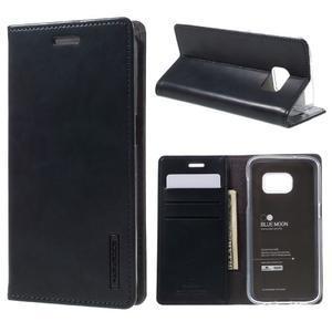 Bluemoon PU kožené puzdro pre mobil Samsung Galaxy S7 - tmavomodré - 1