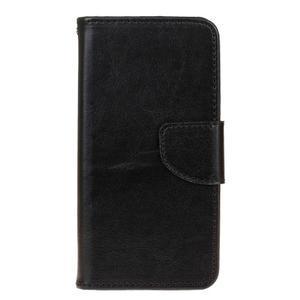 Stand peňaženkové puzdro pre Samsung Galaxy S7 - čierné - 1