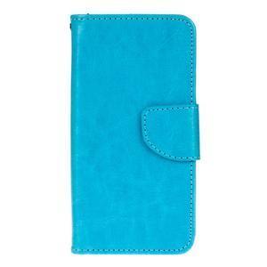 Stand peňaženkové puzdro pre Samsung Galaxy S7 - modré - 1