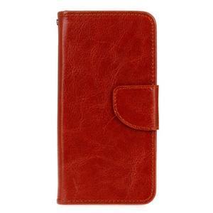 Stand peňaženkové puzdro pre Samsung Galaxy S7 - hnedé - 1