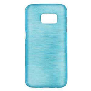 Brush gélový obal pre mobil Samsung Galaxy S7 - modrý - 1
