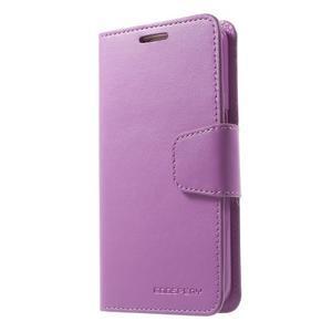 Sonata PU kožené pouzdro na Samsung Galaxy S7 - fialové - 1
