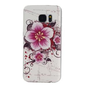 Pictu gelový obal na mobil Samsung Galaxy S7 - květiny - 1