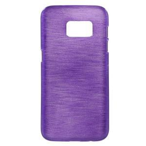 Brush gélový obal pre mobil Samsung Galaxy S7 - fialový - 1