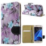 Flower pouzdro na mobil Samsung Galaxy S7 - fialové pozadí - 1/7
