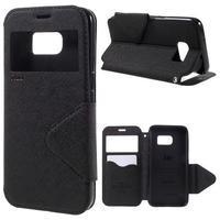 Diary pouzdro s okýnkem na Samsung Galaxy S7 - černé - 1/7