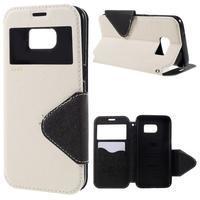 Diary puzdro s okienkom pre Samsung Galaxy S7 - biele - 1/7