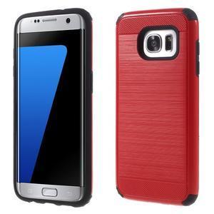 Odolný dvoudílný obal na Samsung Galaxy S7 edge - červený - 1