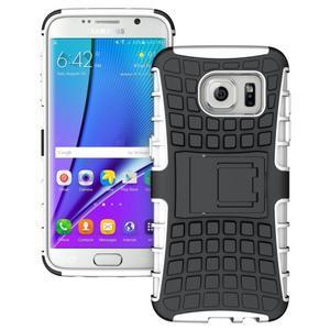 Odolný outdoor kryt na Samsung Galaxy S7 edge - bílý - 1