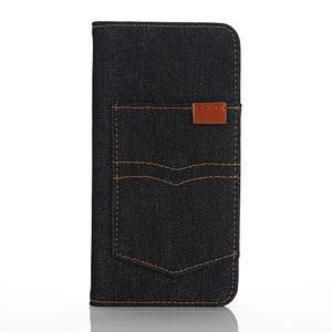 Jeans pouzdro na mobil Samsung Galaxy S7 edge - černomodré - 1