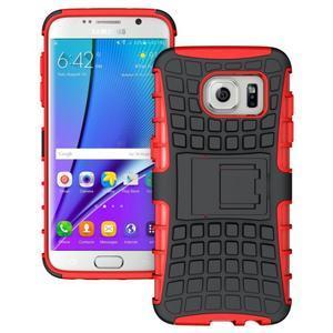 Odolný outdoor kryt pre Samsung Galaxy S7 edge - červený - 1