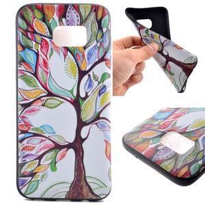 Backy gelový obal na Samsung Galaxy S7 edge - malovaný strom - 1