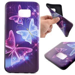 Backy gélový obal pre Samsung Galaxy S7 edge - čarovné motýle - 1