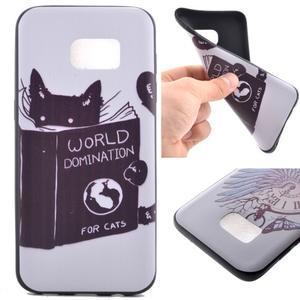 Backy gelový obal na Samsung Galaxy S7 edge - kočka - 1