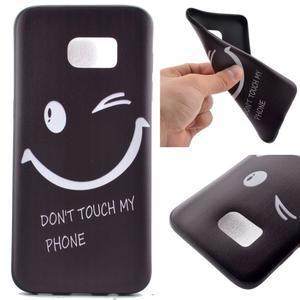 Backy gelový obal na Samsung Galaxy S7 edge - nedotýkat se - 1