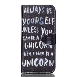 Cross peněženkové pouzdro na Samsung Galaxy S7 edge - unicorn - 1