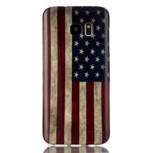 Softy gelový obal na Samsung Galaxy S7 edge - US vlajka - 1