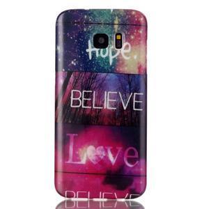 Softy gelový obal na Samsung Galaxy S7 edge - love - 1