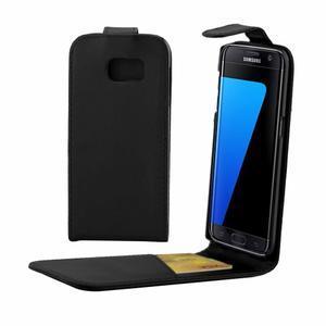 Flipové puzdro pre mobil Samsung Galaxy S7 edge - čierne - 1