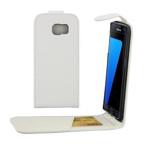 Flipové puzdro pre mobil Samsung Galaxy S7 edge - biele - 1
