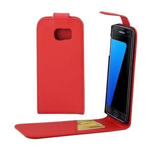 Flipové puzdro pre mobil Samsung Galaxy S7 edge - červené - 1