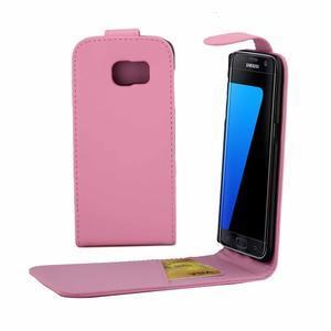 Flipové puzdro pre mobil Samsung Galaxy S7 edge - ružové - 1