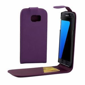 Flipové puzdro pre mobil Samsung Galaxy S7 edge - fialové - 1
