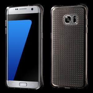 Glitter gélový obal pre Samsung Galaxy S7 edge - šedý - 1
