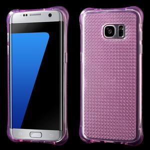 Glitter gélový obal pre Samsung Galaxy S7 edge - rose - 1