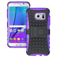 Odolný outdoor kryt na Samsung Galaxy S7 edge - fialový - 1/5