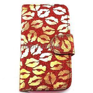 Pusinky peňaženkové puzdro na Samsung Galaxy S4 Mini - červené - 1