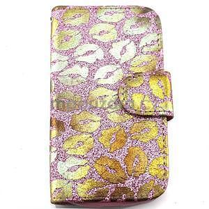 Pusinky peňaženkové puzdro na Samsung Galaxy S4 Mini - růžové - 1