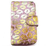 Pusinky peňaženkové puzdro na Samsung Galaxy S4 Mini - růžové - 1/4