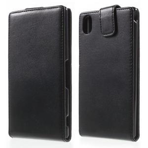 Čierne flipové puzdro pre Sony Xperia M4 Aqua - 1