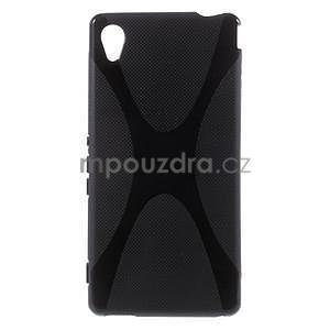 Čierny gélový obal pre Sony Xperia M4 Aqua - 1