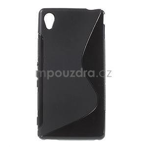 Černý s-line pružný obal na Sony Xperia M4 Aqua - 1