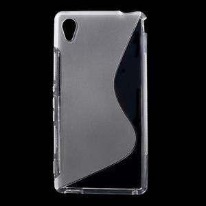 transparentné s-line pružný obal pre Sony Xperia M4 Aqua - 1