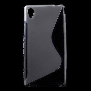 Šedý s-line pružný obal na Sony Xperia M4 Aqua - 1