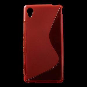 Červený s-line pružný obal na Sony Xperia M4 Aqua - 1