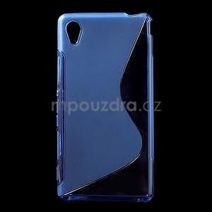 Modrý s-line pružný obal pre Sony Xperia M4 Aqua - 1