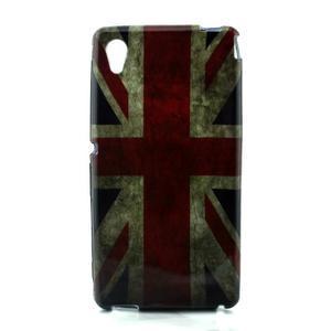 Gelový kryt na Sony Xperia M4 Aqua - UK vlajka - 1