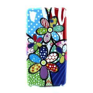 Gélový kryt pre Sony Xperia M4 Aqua - abstraktní kvetiny - 1