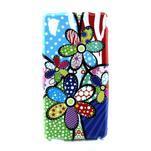 Gélový kryt pre Sony Xperia M4 Aqua - abstraktní kvetiny - 1/4