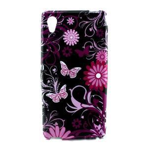 Gelový kryt na Sony Xperia M4 Aqua - květinoví motýlci - 1
