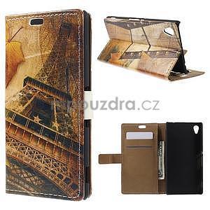 Peňaženkové puzdro pre Sony Xperia M4 Aqua - Eiffel - 1
