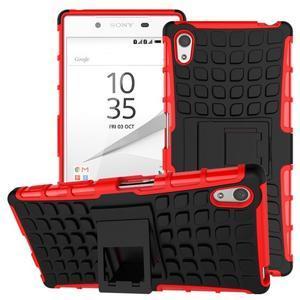Outdoor odolný obal na Sony Xperia Z5 - červený - 1