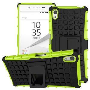 Outdoor odolný obal na Sony Xperia Z5 - zelený - 1