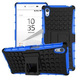 Outdoor odolný obal pre Sony Xperia Z5 - modrý - 1