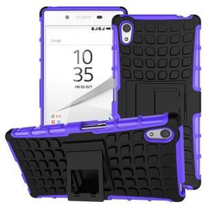 Outdoor odolný obal pre Sony Xperia Z5 - fialový - 1