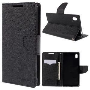Mercur peněženkové pouzdro na Sony Xperia Z5 - černé - 1